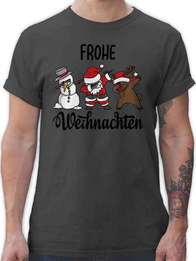 Shirtracer T-Shirt »Frohe Weihnachten mit Dabbing Figuren - schwarz - Weihnachten & Silvester - Herren Premium T-Shirt«