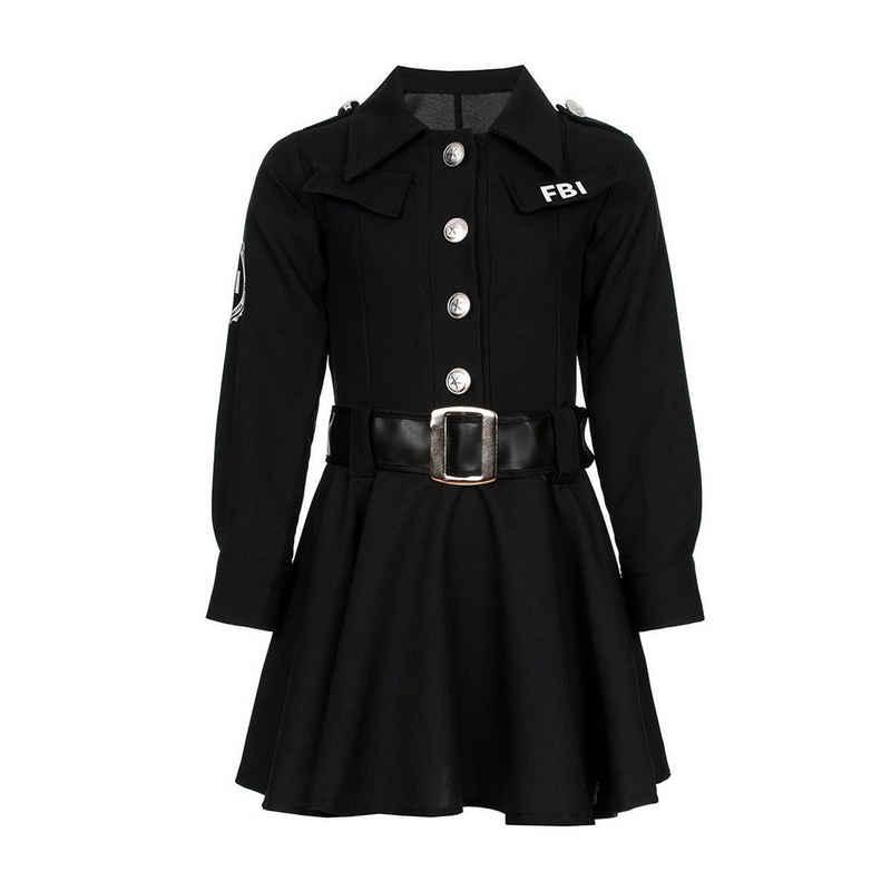 Kostümplanet Polizei-Kostüm »FBI Kinderkostüm Mädchen komplett mit Cap«