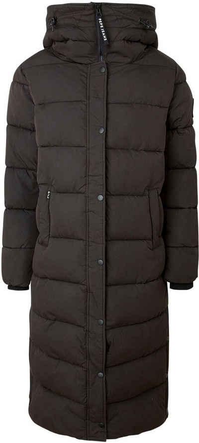 Pepe Jeans Wintermantel »NORAH« mit hohem wärmendem Stehkragen, großer Kapuze und breiter Steppung