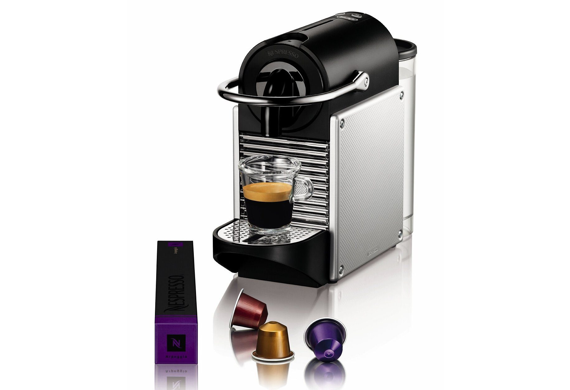 Nespresso Kapselmaschine Pixie EN 125, nur 11 cm breit