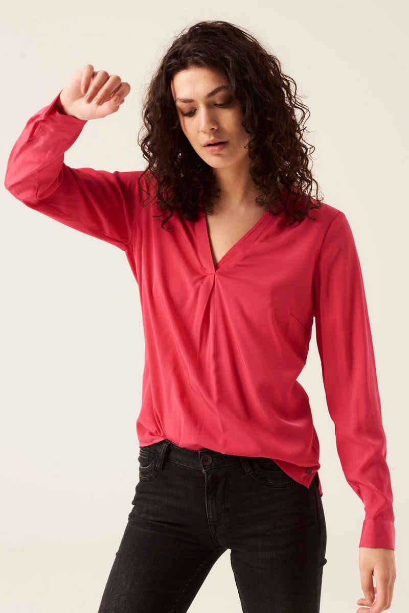Garcia Klassische Bluse »GS100835 - 61-hot pink« mit V-Ausschnitt