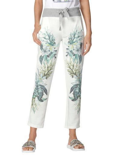 Amy Vermont Jogger Pants mit floralem Muster im Vorderteil