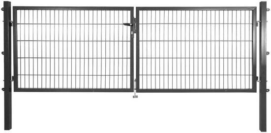 Zaun-Doppeltür , LxH: 3x1 m, anthrazit