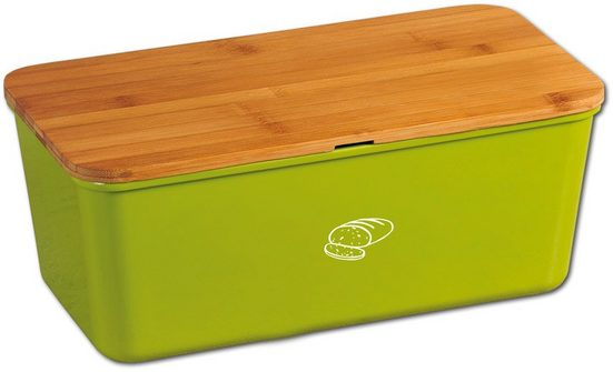KESPER for kitchen & home Brotkasten, Kunststoff, Bambus, (1-tlg), 100% FSC®-zertifiziertem Bambus /Melamin