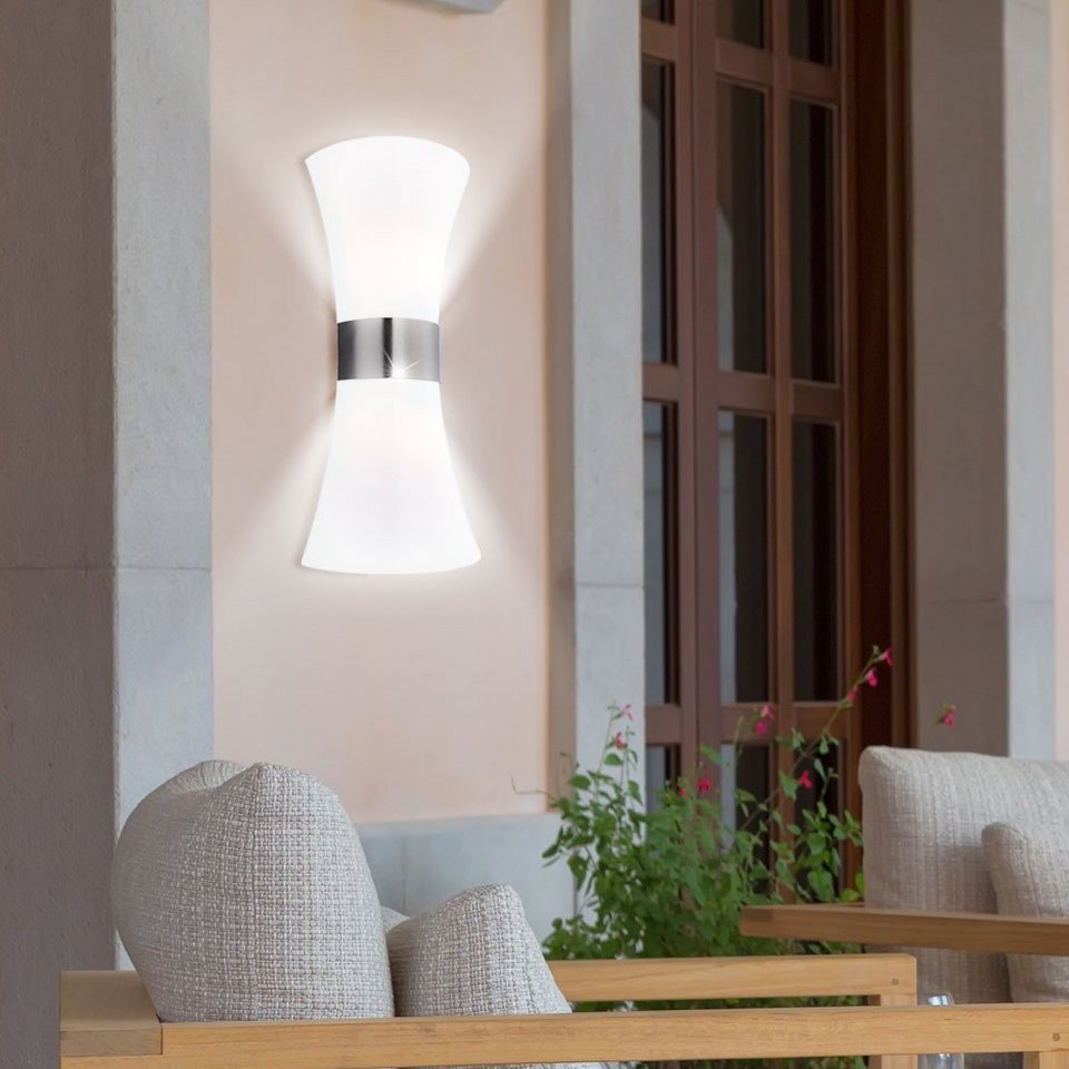 LED Außen Steh Lampe Veranda Spot Beleuchtung Sockel Leuchte Edelstahl Strahler