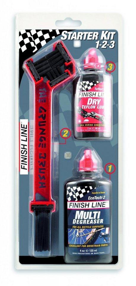 Finish Line Fahrrad Reiniger »Starter Kit 1-2-3-The Grunge Brush Combo 2«