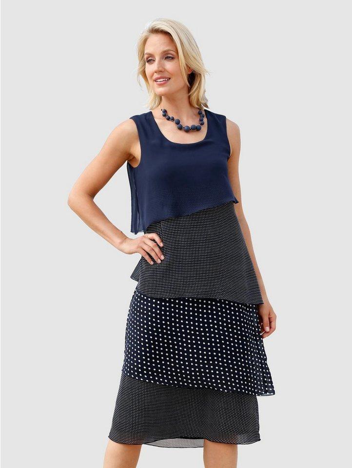 Festtagsmode - Paola Kleid im doppellagigen Look › blau  - Onlineshop OTTO