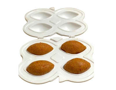cofi1453 Ravioliform »Hüma Içli Köfte Aparati 3-Teilig Kibbeh Maker gefüllte Frikadelle Form Teigform weiß«