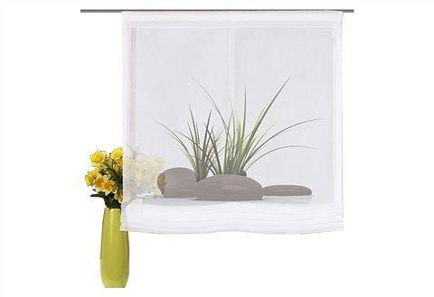 raffrollo home wohnideen moschendorf mit klettband 1. Black Bedroom Furniture Sets. Home Design Ideas