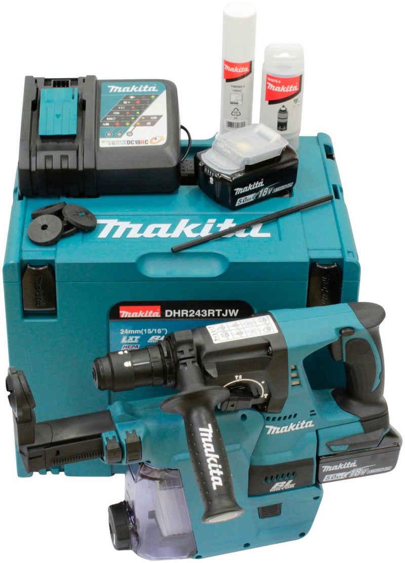 Makita Akku-Kombibohrhammer »DHR243RTJW«, max. 950 U/min, (Set), 5 Ah, SDS+