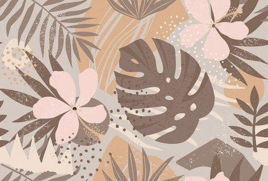 living walls Fototapete »ARTist Jungle Plants«, (Set, 4 St), Palmenblätter, Vlies, glatt