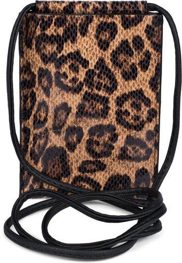 styleBREAKER Smartphonetasche, Handy Umhängetasche Leoparden Muster