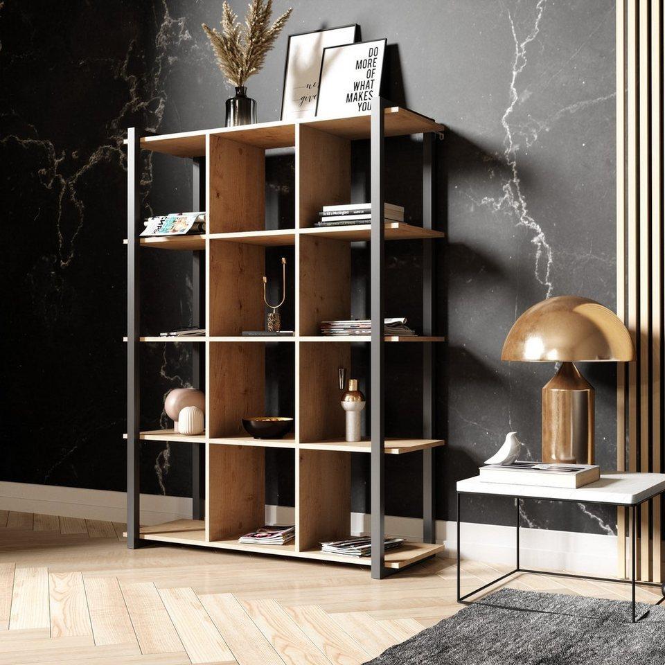 Newroom Bücherregal, Bücherregal Wildeiche Vintage Industrial Standregal  Regal Holzregal Wohnzimmer Arbeitszimmer Schlafzimmer online kaufen  OTTO