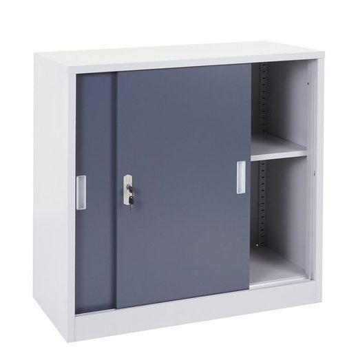 MCW Aktenschrank »MCW-F41« Metallschrank, 2 Schiebetüren, 2 Schlüssel inklusive, 1 Regalboden