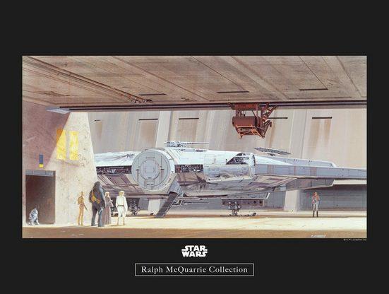 Komar Poster »Star Wars Classic RMQ Mos Eisley Hangar«, Star Wars