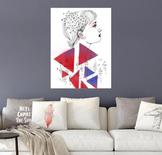 Posterlounge Wandbild, Red Fashionportrait