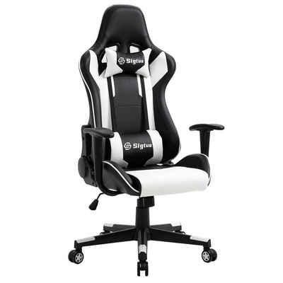 Sigtua Gaming-Stuhl (Set), Sigtua, Ergonomischer Gaming-Stuhl Höhenverstellbarer Bürostuhl aus Kunstleder