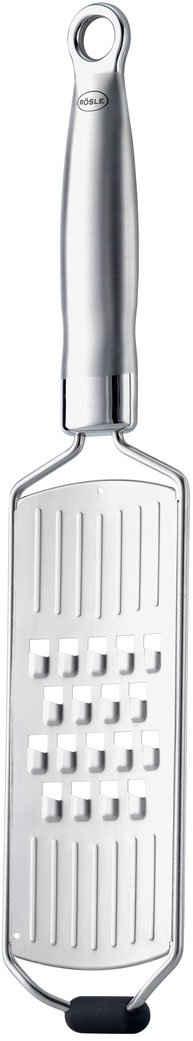 RÖSLE Küchenreibe, Edelstahl 18/10, (1-St), Grobreibe in Profiqualität für Rohkost, Kartoffeln oder Käse, mit Silikonstandfuß, ergonomischem Griff und Aufhängeöse