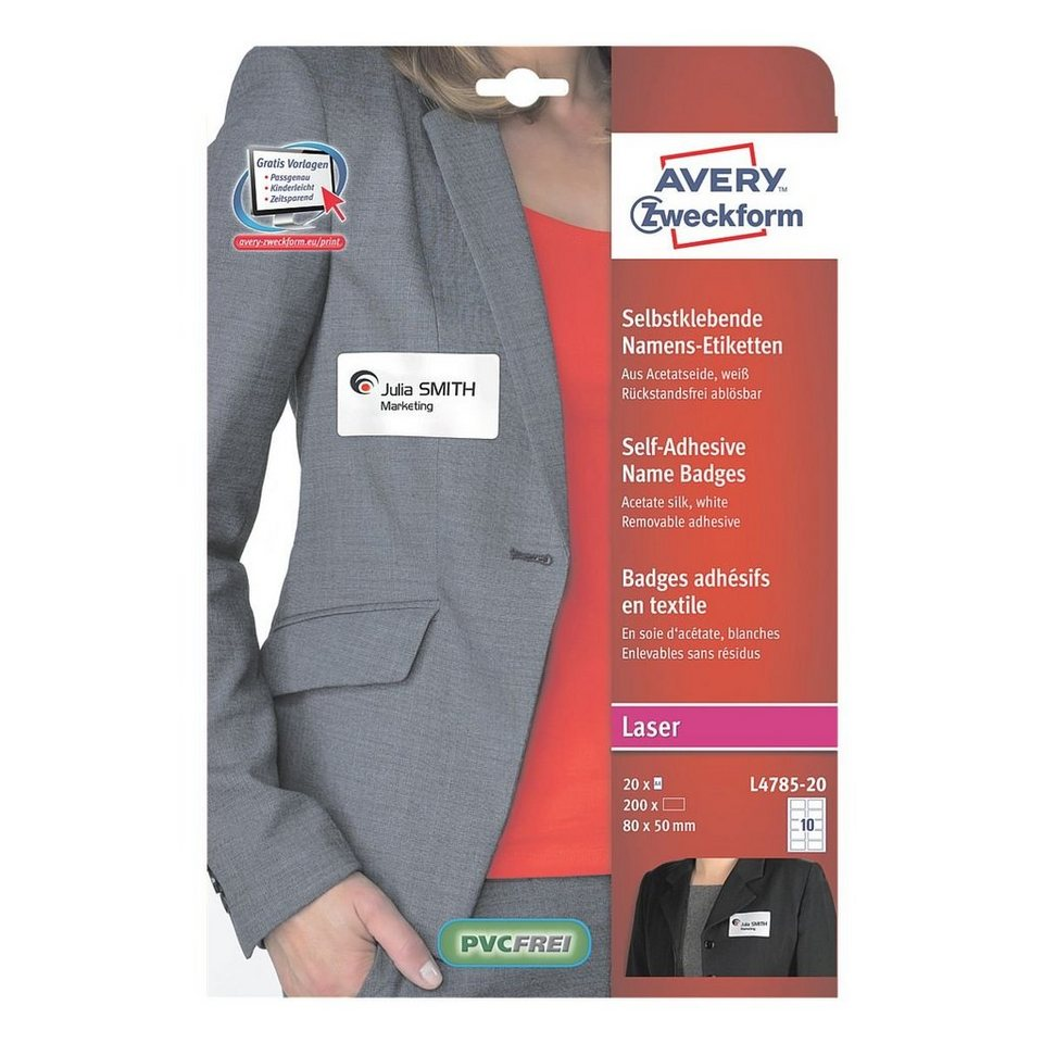 Avery Zweckform Selbstklebe-Namensschilder
