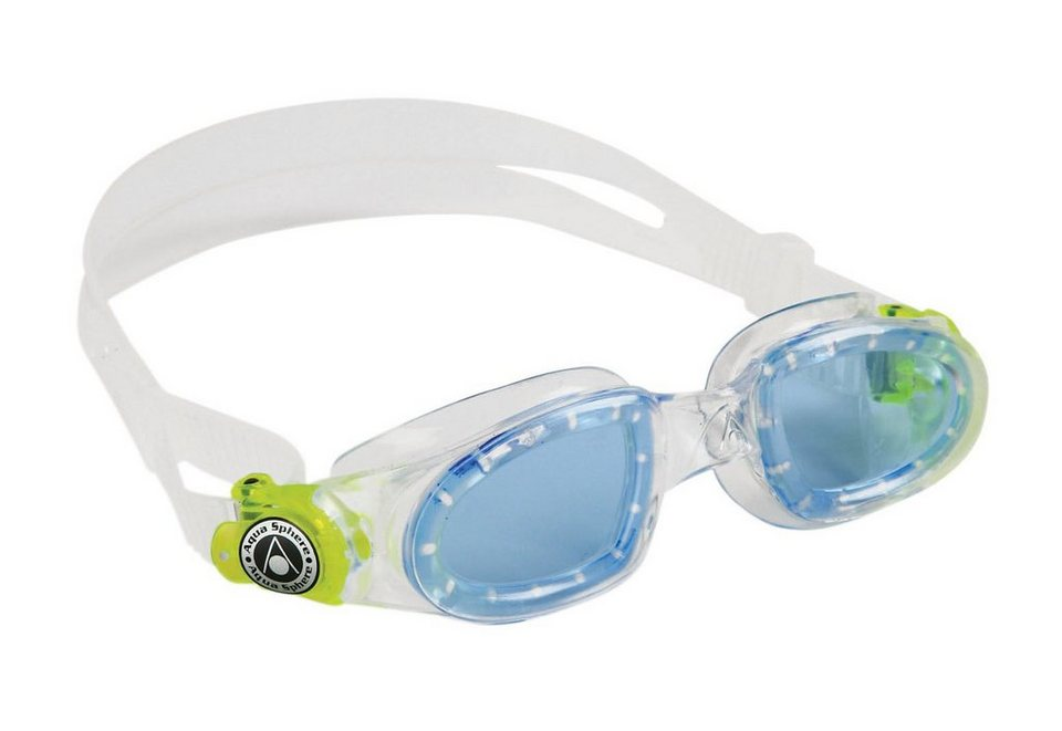 Aqua Sphere, Schwimmbrille, getöntes Glas, »Moby Kid« in transparent/lime
