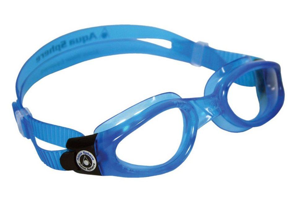 SCHWIMMBRILLE, Aqua Sphere, »KAIMAN SMALL helles Glas« in blau