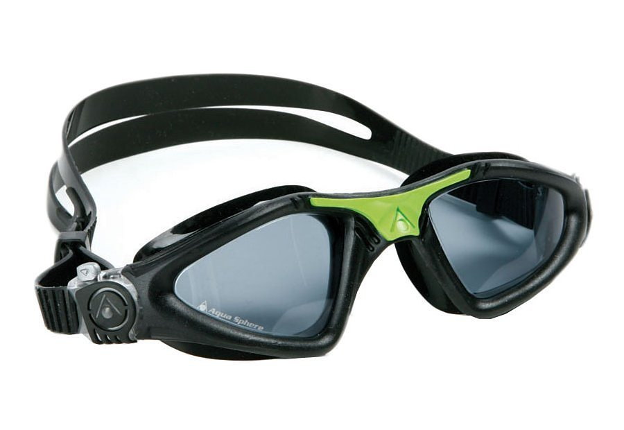 SCHWIMMBRILLE, Aqua Sphere, »KAYENNE getöntes Glas« in schwarz/grün