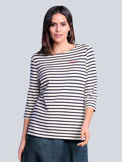 Alba Moda 3/4-Arm-Shirt in maritimer Farbkombination