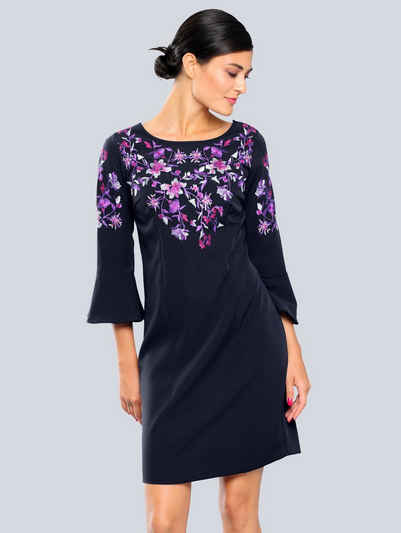 Alba Moda Kleid mit Blütenstickerei