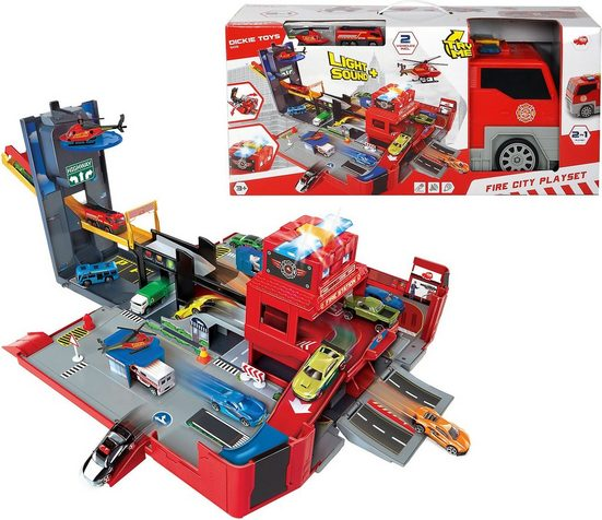 Dickie Toys Spielzeug-Auto »Folding Fire Truck Playset«