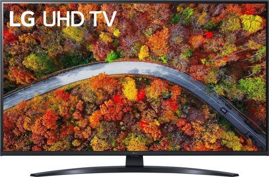 LG 43UP81009LR LCD-LED Fernseher (108 cm/43 Zoll, 4K Ultra HD, Smart-TV, LG Local Contrast, Sprachassistenten, HDR10 Pro, LG ThinQ, inkl. Magic-Remote Fernbedienung)