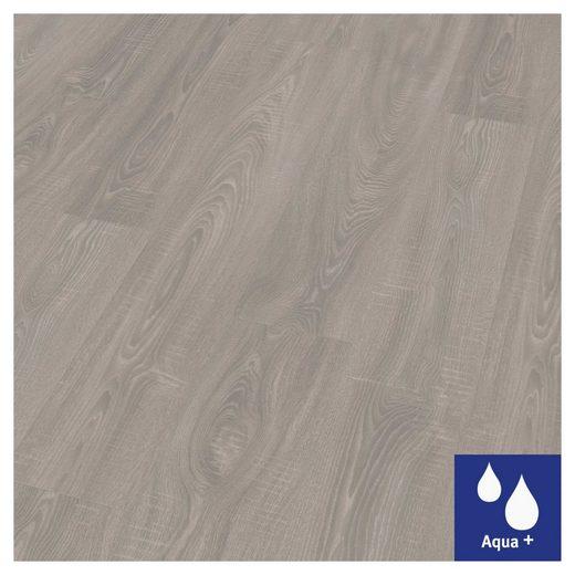 EGGER Laminat »HOME Aqua+ Toscolano Eiche grau«, Packung, wasserbeständig, 1,994 m²/Pkt., Stärke: 8 mm