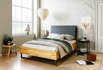andas Bett »Calypso«, toller Materialmix aus Stoff, Holz und Metall