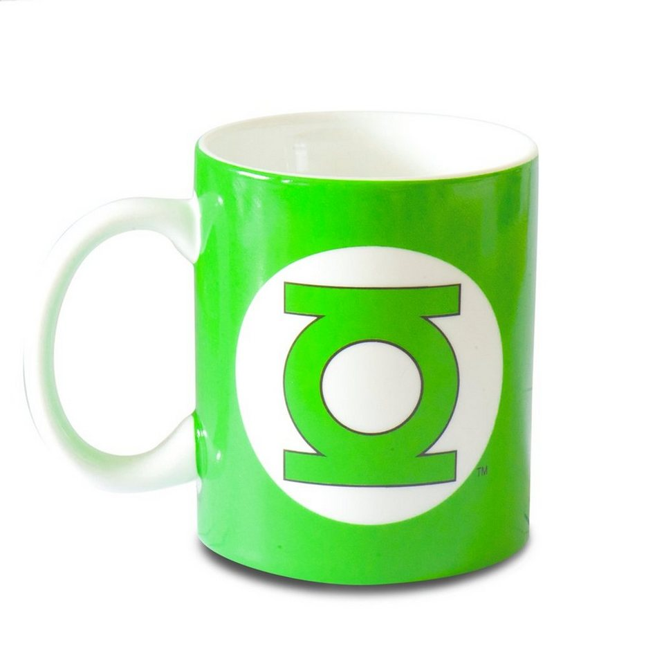Tasse DC Comics Kaffeebecher LOGOSHIRT Logo Green Lantern Superheld