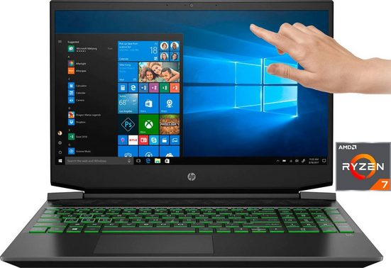 "HP Pavilion - 15-ec1239ng 15,6"" Notebook Gaming-Notebook (39,6 cm/15,6 Zoll, AMD Ryzen 7, GeForce®, - GB HDD, 1000 GB SSD, inkl. Office-Anwendersoftware Microsoft 365 Single im Wert von 69 Euro)"