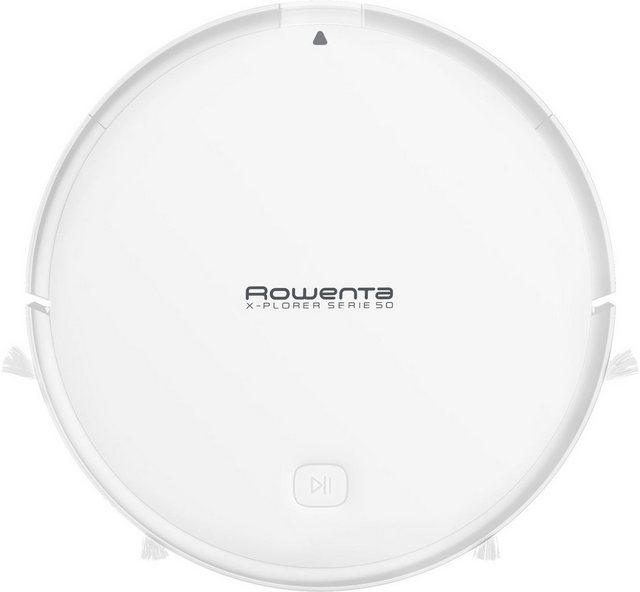 Rowenta Saugroboter X-plorer Serie 50 RR7387, 4 in 1 Reinigung Hochpräzise Navigation Kompatibel mit Smartphone Sprachassistenten
