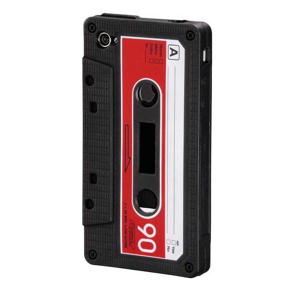 Hama Handy-Silikoncover Tape für Apple iPhone 4/4S, Schwarz in Schwarz
