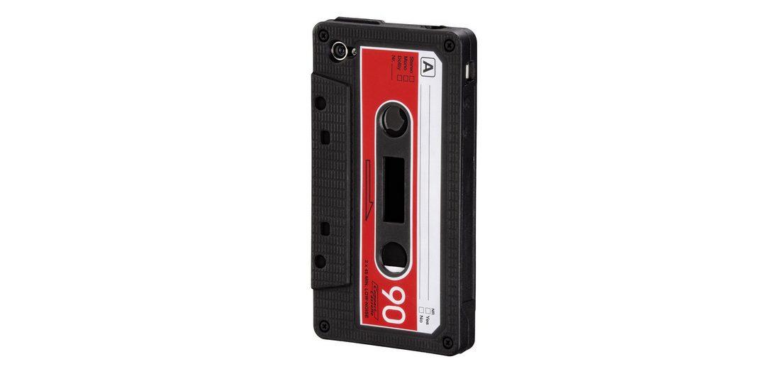 Hama Handy-Silikoncover Tape für Apple iPhone 4/4S, Schwarz