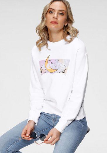 Levi's® Sweatshirt »Graphic Standard Crew« mit Batwing-Print in Mond-Optik
