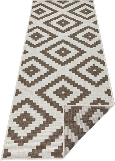 Läufer »Malta«, bougari, rechteckig, Höhe 5 mm, In- und Outdoor geeignet, Wendeteppich
