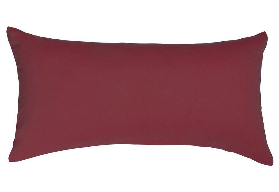 Kissenbezug, Heike, »Mako-Jersey«, reine Baumwolle in burgund