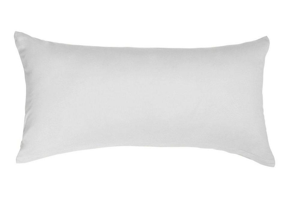 Kissenbezug, Heike, »Mako-Jersey«, reine Baumwolle in silbergrau