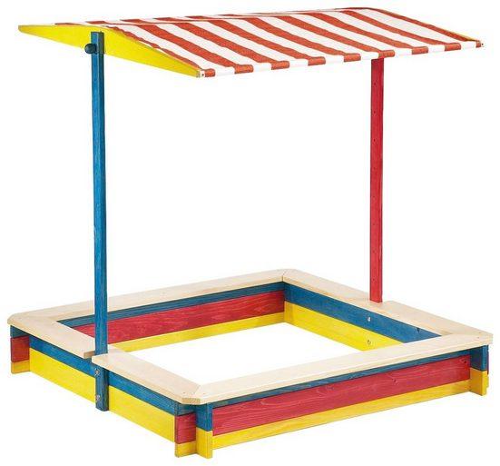 Pinolino® Sandkasten »Lukas«, 120x120 cm, mit Dach