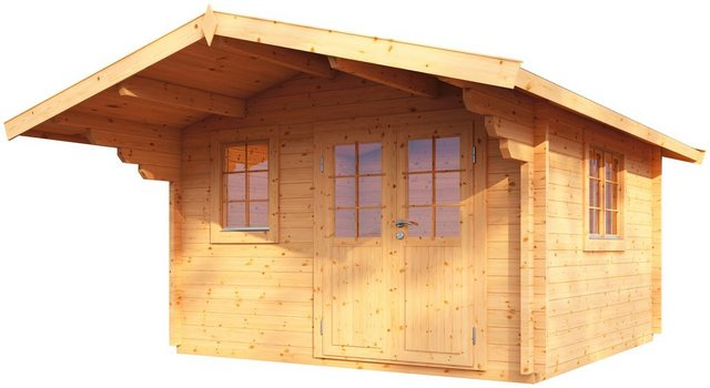 WOLFF FINNHAUS Gartenhaus »Nordkap 70-B«, BxT: 410x530 cm, inkl. Fußboden   Garten > Bodenbeläge-Garten   Wolff