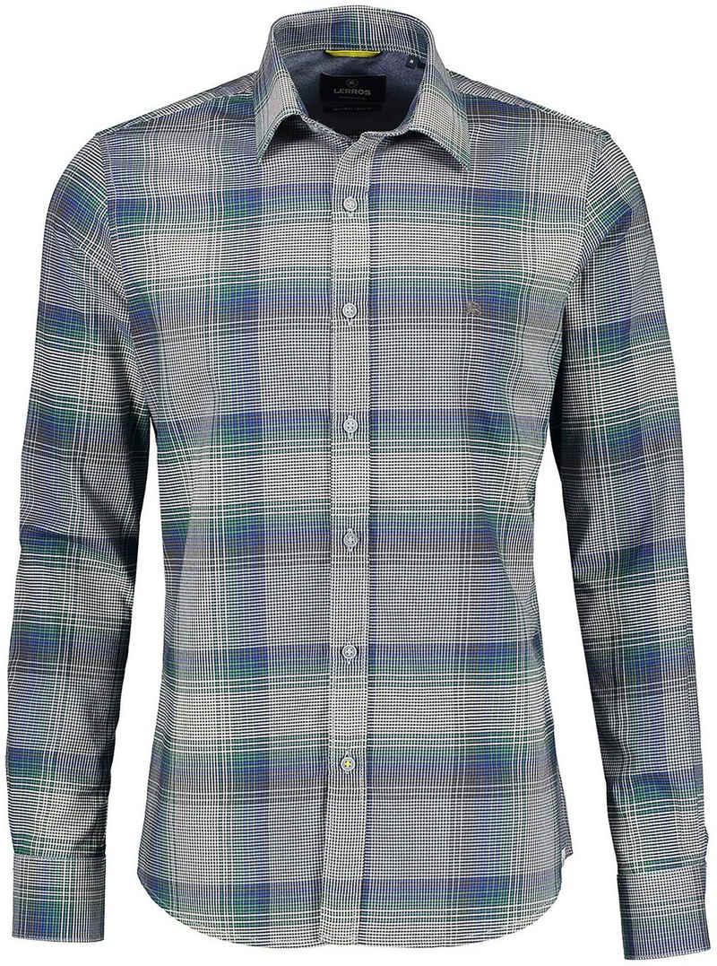 LERROS Langarmhemd mit Karomuster