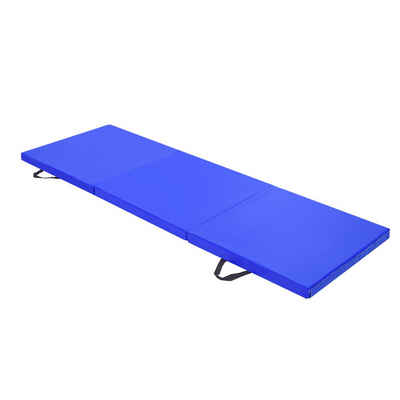 esyBe Gymnastikmatte »6ft x 2ft 3-Panel Faltbare Gymnastikmatte Yoga Gymnastik Aerobic Workout Fitness Bodenmatten mit Tragegriffen Blau«