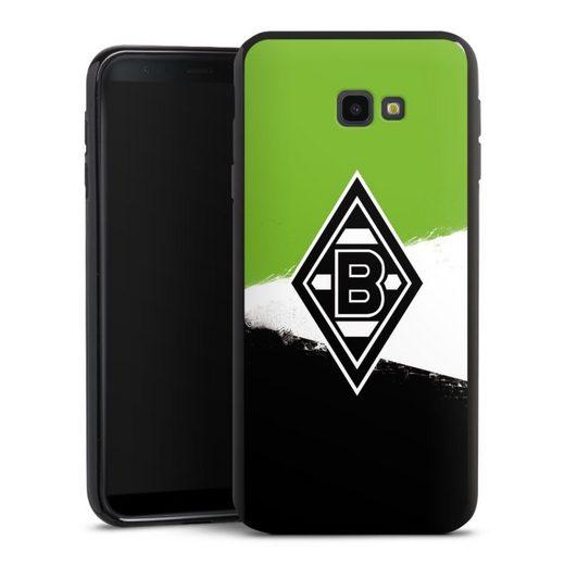 DeinDesign Handyhülle »Borussia Grunge Grün-Weiss-Schwarz« Samsung Galaxy J4 Plus (2018), Hülle Gladbach Borussia Mönchengladbach