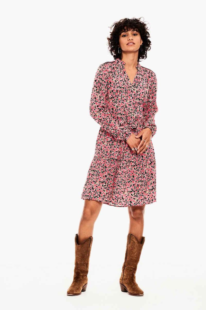 Garcia A-Linien-Kleid »B10081 - 2628-fiery pink« mit allover Blumenprint