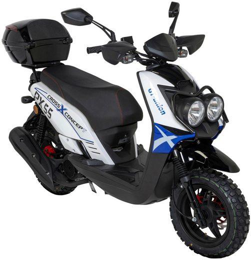 GT UNION Motorroller »PX 55 Cross-Concept«, 50 ccm, 45 km/h, Euro 5, 50 ccm, 45 km/h, inkl. Topcase