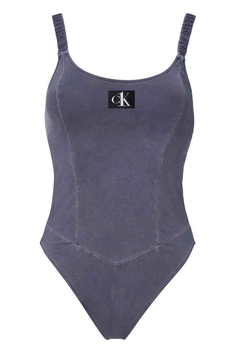 Calvin Klein Badeanzug, in Used-Optik