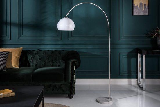 riess-ambiente Bogenlampe »LOUNGE DEAL 137-157cm weiß«, höhenverstellbar